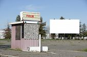 picture of matinee  - An old drive in movie screen for your text or image - JPG