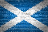 Brick Wall Scotland Saltire