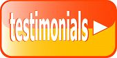 Testimonial Button - Orange Testimonial Icon