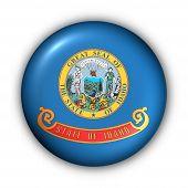Bandeira de redondo botão EUA estado de Idaho