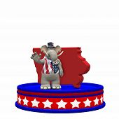 stock photo of caucus  - Republican Platform - Iowa