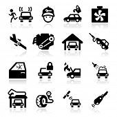 Auto Repairs Icons set - Elegant series
