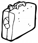 full luggage suitcase cartoon (raster version)