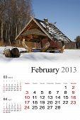 2013 Calendar. February
