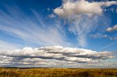 Beautiful Clouds In The Blue Sky.