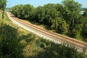 Railroad Tracks, Platte River