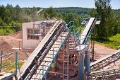 pic of crusher  - stone crusher at quarry red marble  - JPG