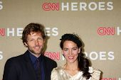 LOS ANGELES - DEC 2:  Jamie Bamber, Kerry Norton arrives to the 2012 CNN Heroes Awards at Shrine Aud