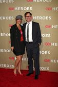 LOS ANGELES - DEC 2:  Rainn Wilson and wife arrives to the 2012 CNN Heroes Awards at Shrine Auditori