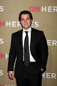 LOS ANGELES - DEC 2:  Nathan Kress arrives to the 2012 CNN Heroes Awards at Shrine Auditorium on Dec