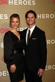 LOS ANGELES - DEC 2:  KaDee Strickland, Jason Behr arrives to the 2012 CNN Heroes Awards at Shrine A
