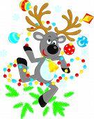 Reindeer dancing