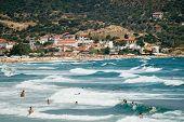 Sarti Beach In Sithonia Peninsula Halkidiki Greece
