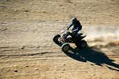 pic of moto-x  - close up of quad racer en route - JPG