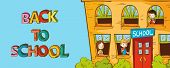 Colorful Education Back To School Cartoon.