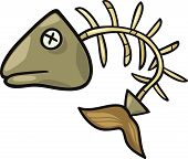 Fishbone Clip Art Cartoon Illustration