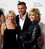 NEW YORK-AUG 5: Actors Naomi Watts, Liev Schreiber and Jane Fonda attend the premiere of Lee Daniels