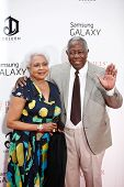 NEW YORK-AUG 5: Baseball legend Hank Aaron and wife Billye attend the premiere of Lee Daniels'
