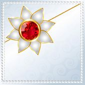 picture of rakhi  - beautiful hindu festival rakhi background - JPG