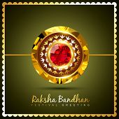picture of rakhi  - stylish vector rakhi background with space for your text - JPG