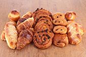 picture of baked raisin cookies  - assortment of pastries - JPG