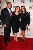 LOS ANGELES - AUG 15:  Paul Levesque, Suzanne Kolb, Stephanie McMahon at the Superstars for Hope honoring Make-A-Wish at the Beverly Hills Hotel on August 15, 2013 in Beverly Hills, CA