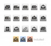 E-mail Icons // Metallic Series - It includes 4 color versions for each icon in different layers.