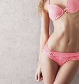 stock photo of hot pants  - Sexy body of young beautiful woman - JPG