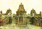 ancient balinese temple - artistic toned picture