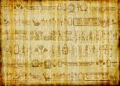 egyptian parchment with hieroglyphics