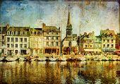 Honfleur town (Normandy) - artistic picture
