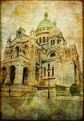 Parisian Basilica - vintage card