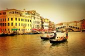 amazing Venice on sunset - artistic toned picture