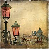 Venetian pictures series - retro styled