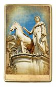 European landmarks series - vintage card- Rome poster