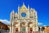 cathedral on medieval Siena - Tuscany