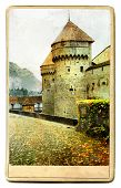Chillion castle - painted landmark series poster