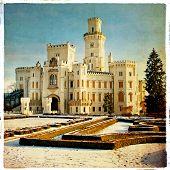 white castle - retro styled picture