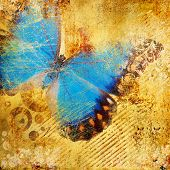 beautiful colored abstraction with butterfly