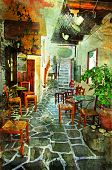 streets with tavernas (pictorial Greece series)