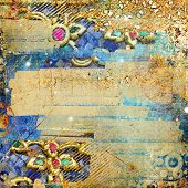 artistic abstraction - luxury golden mess