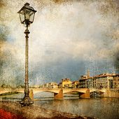 pictures of Italy - Florence - artistic retro style