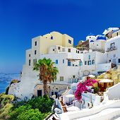 romantic Santorini ,Oia town, Greek island series