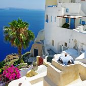 Santorini streets - from  Greek series