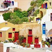 colors of Greece series - Santorini architecture