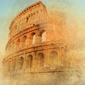 stock photo of ancient civilization  - great antique Rome  - JPG