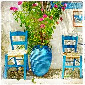 traditional Greece series - retro artwork