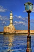 light house and lantern - Chania (Crete-Greece)