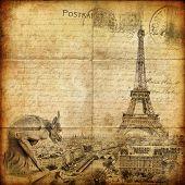 vintage letter - Paris