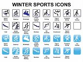 picture of luge  - set of winter sports icons vector illustration - JPG